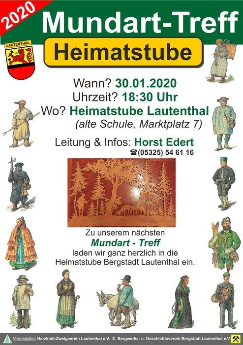 Mundart - Treff in der Heimatstube Lautenthal @ Heimatstube Lautenthal | Langelsheim | Niedersachsen | Deutschland